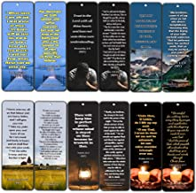 KJV Religious Bookmarks - Bible Verses About Trusting The Lord During Crisis (12 Pack) - Collection of Bible Verses About God's Sustenance During Crisis