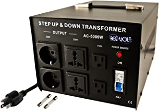 Regvolt AC-5000 Step Up & Down Voltage Converter Transformer, 5000 Watts - Heavy Duty Continuous Use Voltage Converter 110 Volt and 220 Volts with Circuit Breaker Protection, CE Certified