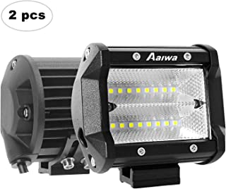 LED Pods, 2Pack 48W LED Flood Light Bar LED Work Lights Off Road Driving Fog Lights Waterproof for Truck Boat Car UTV ATV SUV Jeep, 2 Years Warranty
