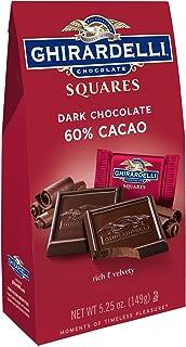 Ghirardelli Chocolate Squares, Dark Chocolate, 5.25 oz., (Pack of 6)