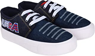 Shoefly Women Blue-603 Canvas Casual Shoe