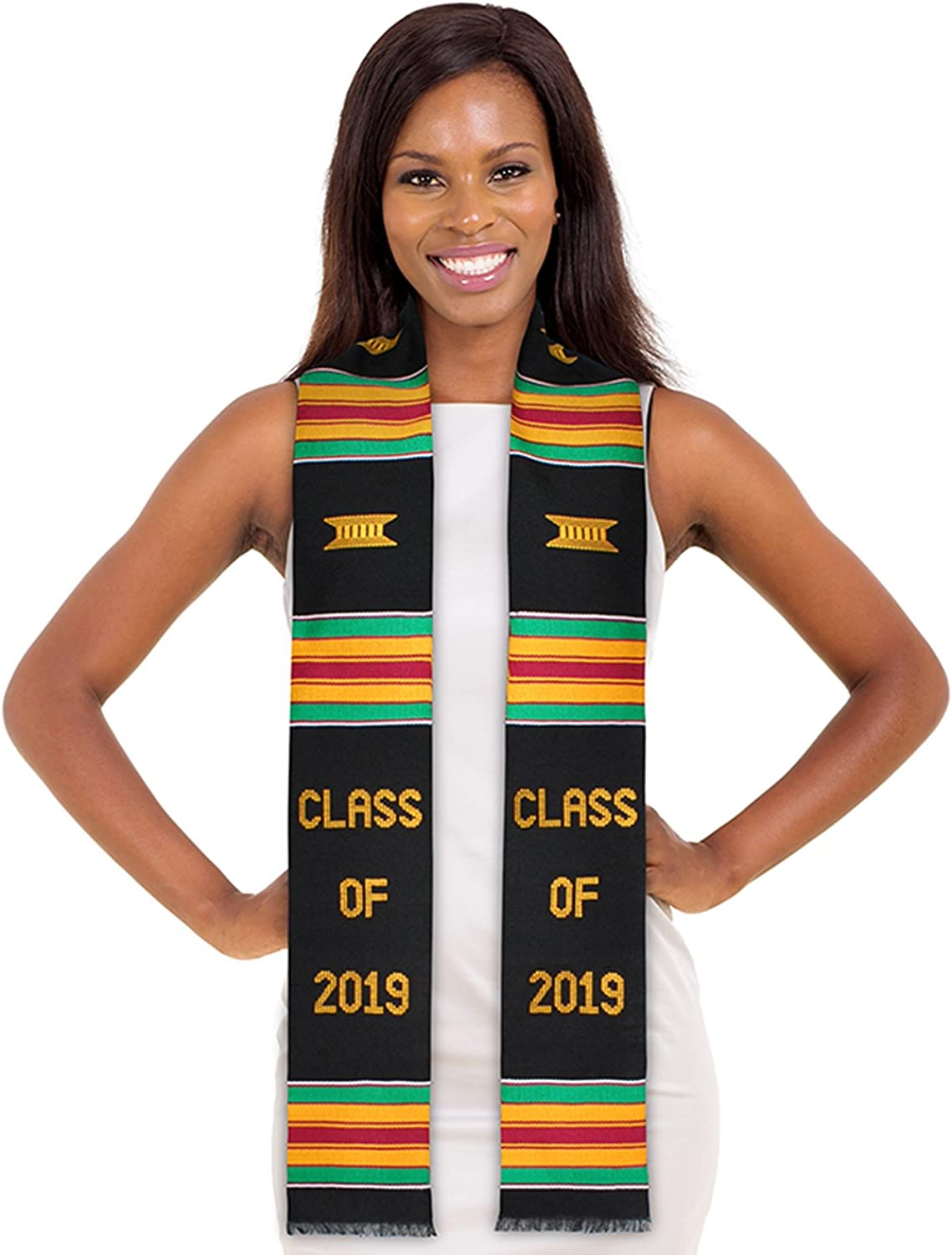 ADVANSYNC Class of 2019 Kente Cloth Graduation Stole and Our Daily Bread Book