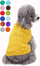Jcheupet Dog Pet Clothes Dog Sweater Warm Casual Thick Plush Outfits Outing Clothes for Cat Puppy Small Medium Dogs UG XS