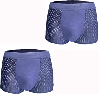 Lynn&Light Underwear Panties Knickers New Men'S Underwear Ice Silk Ultra-Thin Breathable Boxer Shorts Cotton Comfortabable...