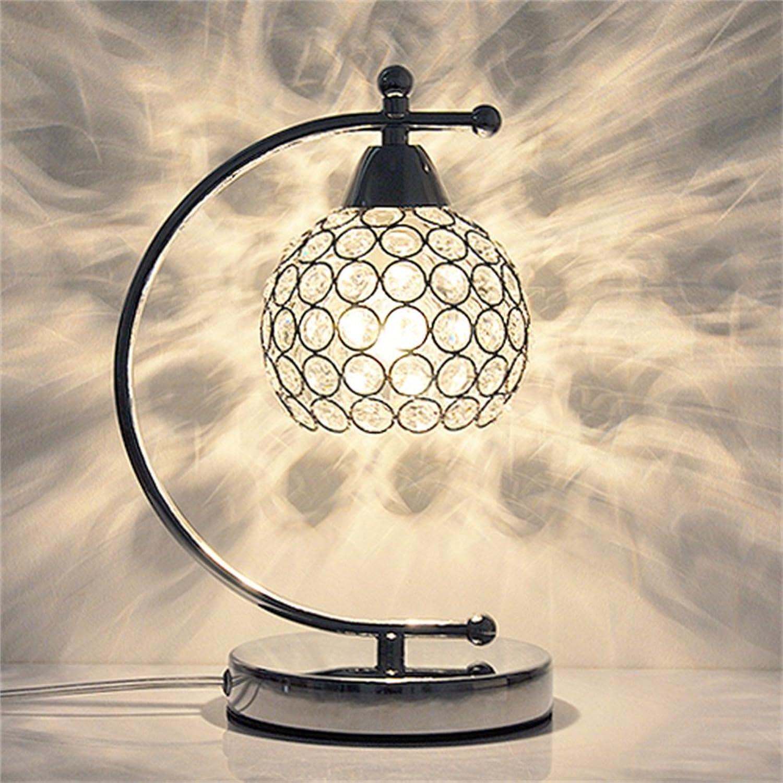 XiuXiu Nordic Modernen Minimalistischen Schmiedeeisen Kristall Tischlampe Nachttischlampe Wohnzimmer Studie Büro Schlafzimmer Dekoration Tischlampe