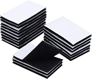 BRAVESHINE Adhesive Sticky Strips - Double Sided and Removable - 18PCS Heavy Duty Wall Mounting Squares Hook Loop Interlocking Tape for Carpet, Couch Cushion, Picture Hanging - 1.2x2 Inch (Black)