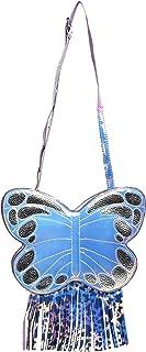 LSB Little Surprise Box Designer Silver Butterfly ABS Sling Bag