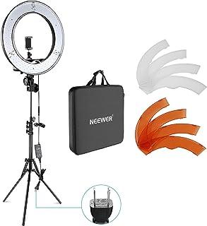 Neewer カメラ写真ビデオ用照明セット 18インチ/48cm外部55W 5500K調光LEDリングライト、ライトスタンド、スマートフォン、Youtube、自撮り撮影などに使え