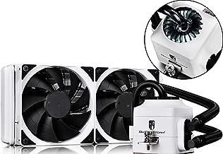 DEEPCOOL Captain 240EX White AIO Liquid CPU Cooler, White LED Waterblock, 240mm Radiator, Dual 120mm Black PWM Fans, White, AM4 Compatible, 3-Year Warranty