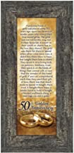 Bands of Gold, 50th Wedding Picture Frame, 6x12 7318BW