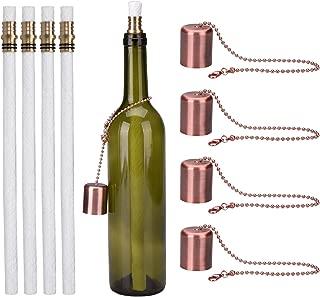 ceramic wine bottle wick holder