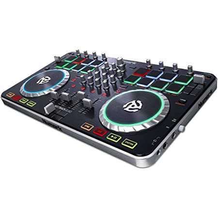 Numark Mixtrack Quad Four Deck USB DJ Controller with Integrated Audio Interface and Trigger Pads