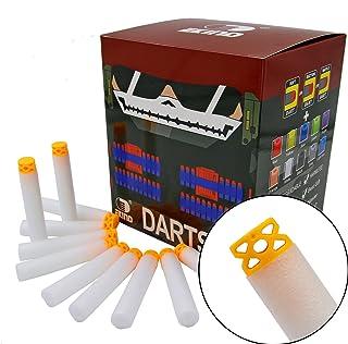 EKIND 200 Pcs 7.2cm TPR Waffles Soft Head Darts Refill Foam Bullet Compatible for Nerf N-Strike Elite AccuStrike Guns