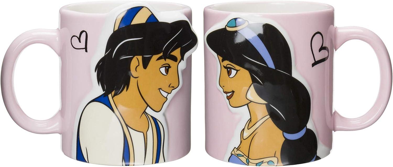 Disney Princesse Jasmine et Aladdin Kiss Paire Mug Tasses (japan import)