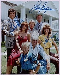 DALLAS TV show cast signed reprint 8x10 photo RP Larry Hagman