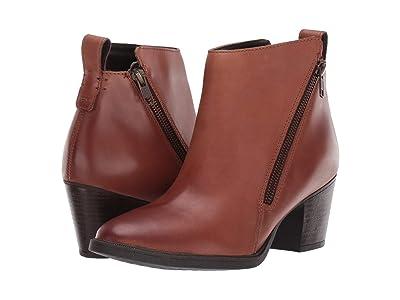 Rockport Maddie Ankle Zip Boot (Cognac) Women