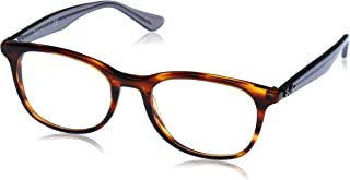 789038313c Ray-Ban 0rx5356 No Polarization Square Prescription Eyewear Frame Shiny  Havana 52 mm