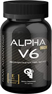 5 HTP Mood Enhancement | Alpha V6 | Promotes Natural Stress and Anxiety Relief, Improved Sleep and Cell Regeneration | Designed with Powerful Natural Ingredients by RAM ADVANTAGE | 30 (ct)