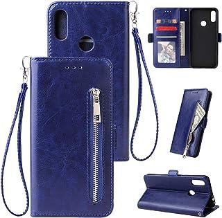WIWJ H/ülle f/ür Xiaomi Redmi Note 7 Pro Handyh/ülle Glitzer Splei/ßen Lederh/ülle Wallet Kredit Kartenf/ächer Brieftasche Schutzh/ülle Magnet Klapph/ülle Flip 360 Grad Tasche-Silber