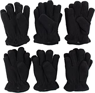 Toddler/Kids Soft And Warm Fleece Lined Gloves 6-Pack