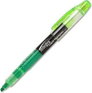 Integra Liquid Ink Highlighter, Chisel Tip, Fade Resistant, Fluorescent Green (ITA33314)