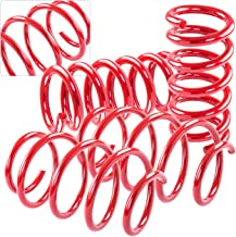 AJP Distributors High Performance Suspension Racing Track Lowering Springs Spring For 2005 2006 2007 2008 2009 2010 2011 2012 2013 2014 05 06 07 08 09 10 11 12 13 Ford Mustang GT Cobra GT500 (Red)