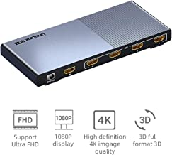Unnlink HDMI Cable Splitter 1 in 4 Out UHD 4K@60Hz HDR 18Gbps HDCP2.2 3D FHD1080P HDMI Switcher Conpatble Xbox HDTV PS4 Blu-Ray Projector TV Monitor
