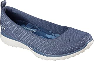 Skechers Microburst Quick Witted Womens Slip On Skimmer Sneakers