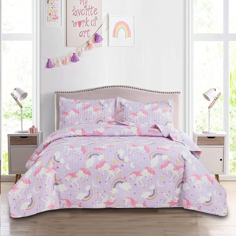 Kids Rainbow Unicorn Quilt Set In Nashville-Davidson Mall stock with Sham Animal Twin Size Cartoo