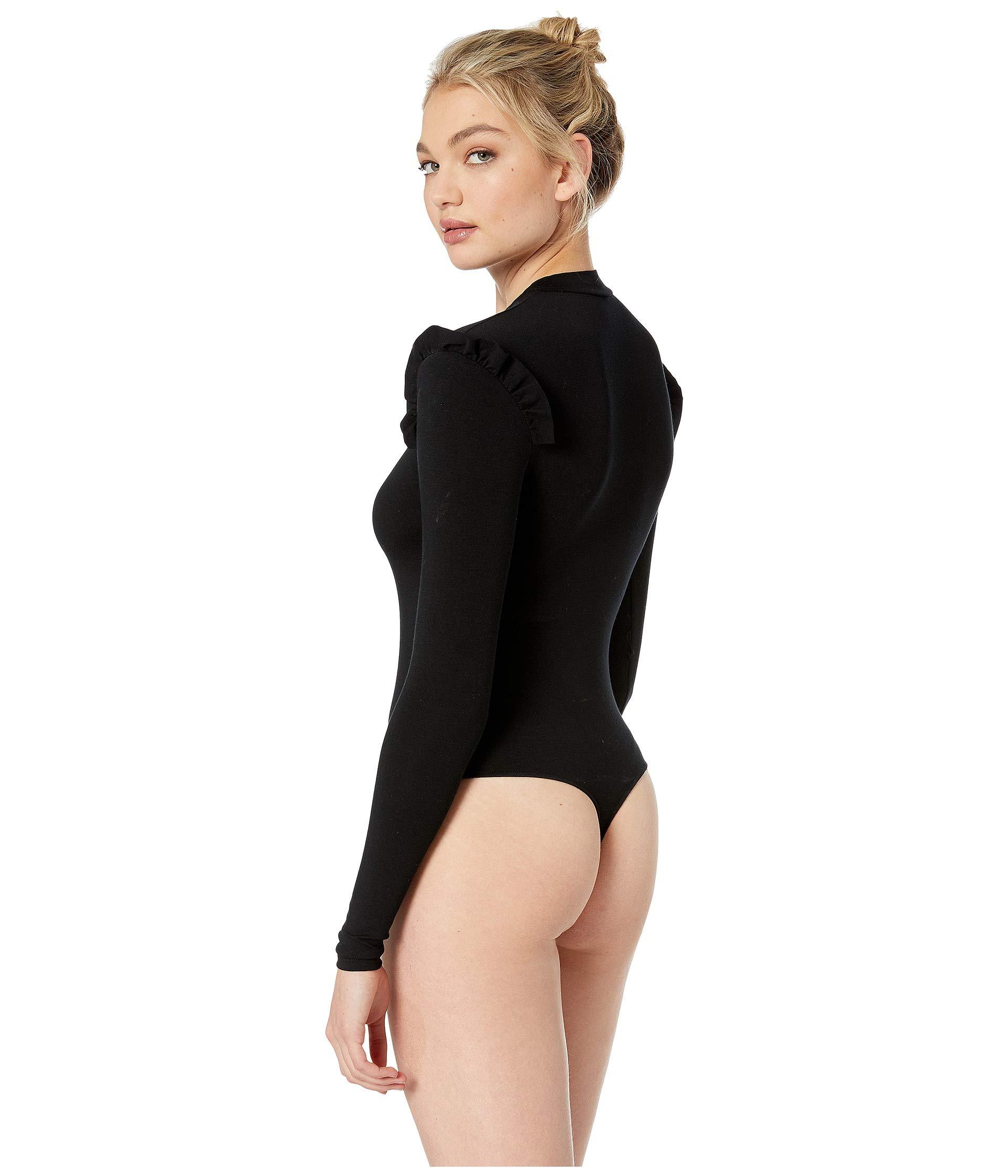 Long Bodysuit Black Samba So Hearts Only Sleeve Fine wnxYIzfWCq