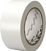 3M General Purpose Vinyl Tape 764, White, 2 in x 36 yd, 5 mil