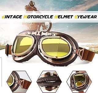 Universal Motorcycle Goggles Glasses Retro Vintage Classic Helmet Goggles For Steampunk ATV Bike Copper