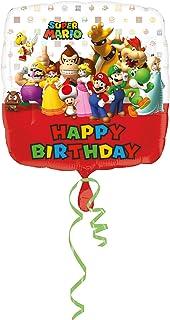 Amscan - Bolsa de regalo para fiesta infantil con temática de Mario Bros, multicolor, talla única