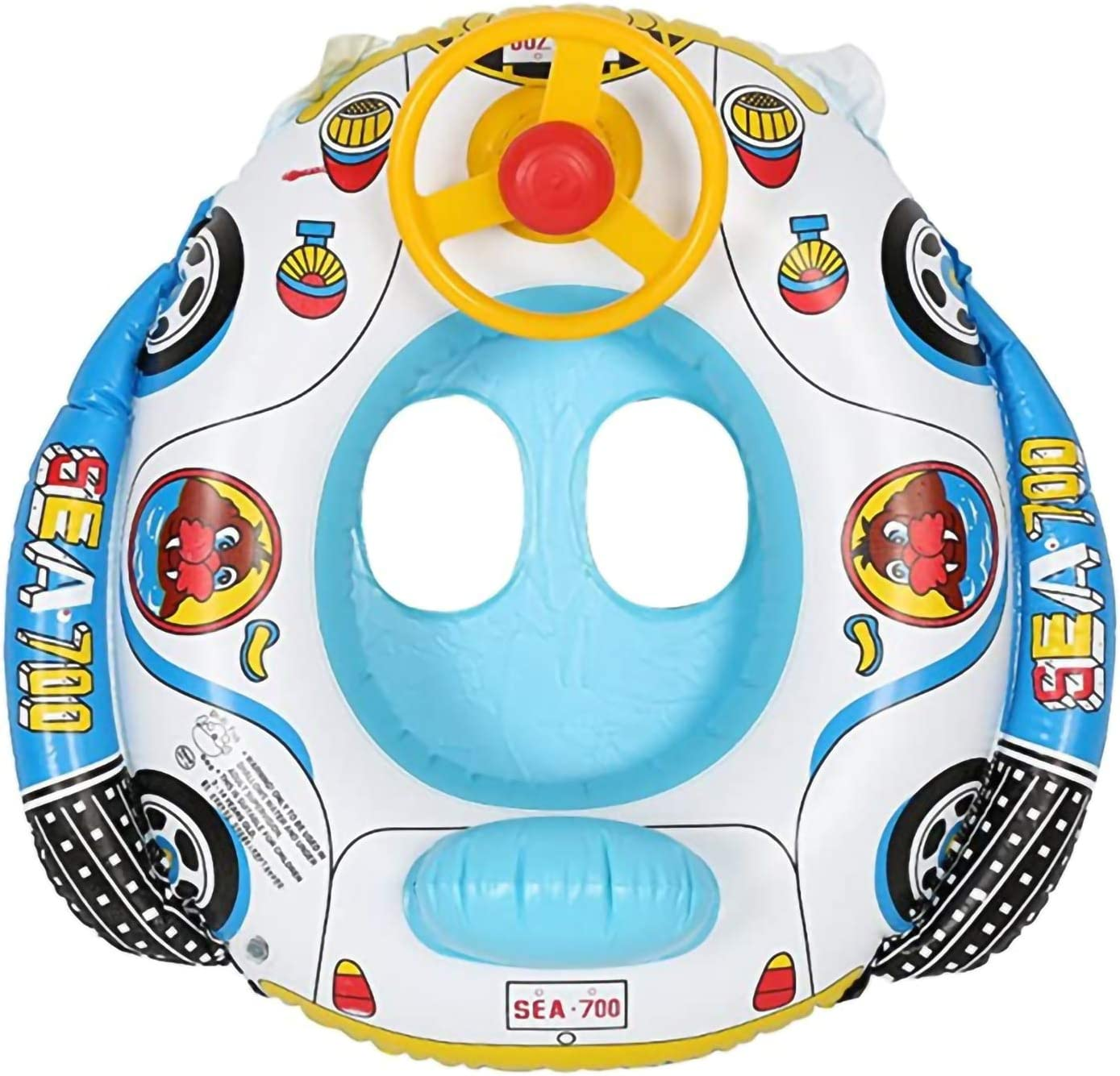Baby Pool Fixed price for sale Float Inflatable Swimming Hor Wheel Steering with Ring San Antonio Mall