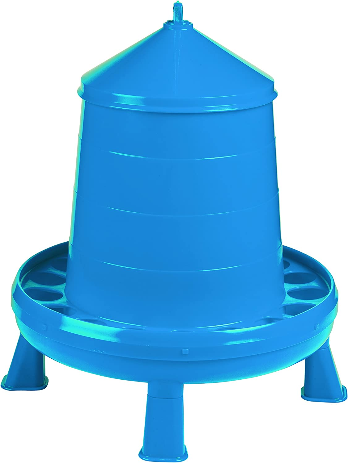 Poultry Feeder with Legs Blue shipfree - OFFicial shop Container Feeding Durable