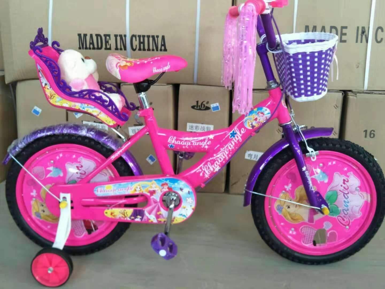 JIANPING Bicicleta For Niños, Coche Princesa For Niños De 12/14/16/18 Pulgadas con Respaldo Trasero con Canasta Bicicleta para niños (Size : 18Inch): Amazon.es: Hogar