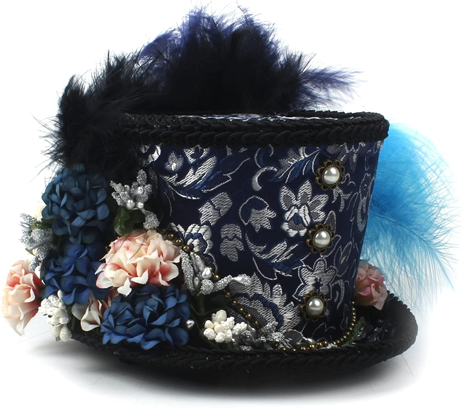 Brand New Mini Top Hat, Turquoise Royal Ascot, Horse Race hat, Paisley Tea Party hat, Mad Hatter hat