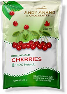 Andy Anand Chocolates Premium California Dried whole cherries, All Natural, Made from Natural Ingredients- (Pack of 2 – 3oz).