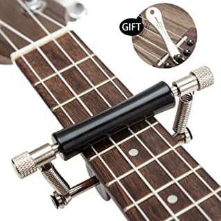 Guitar Glider Capo,Ukulele Capo Rolling for 4-6 String Guitar.Metal and rubber material Sliding Capo,Used as Classical Guitar Capo and Electric Guitar Capo,Ukulele Mandolin Banjo Capo.