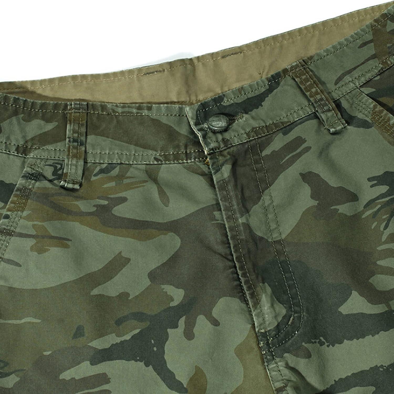 B dressy Camouflage Camo Cargo Shorts Men New Casual Loose Work Man Military Short Pants Plus Size 29-44-Khaki-29