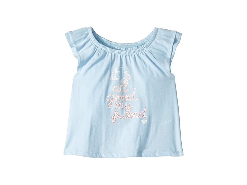 Roxy Kids Own This Groove Tee (Toddler/Little Kids/Big Kids) (Cool Blue) Girl