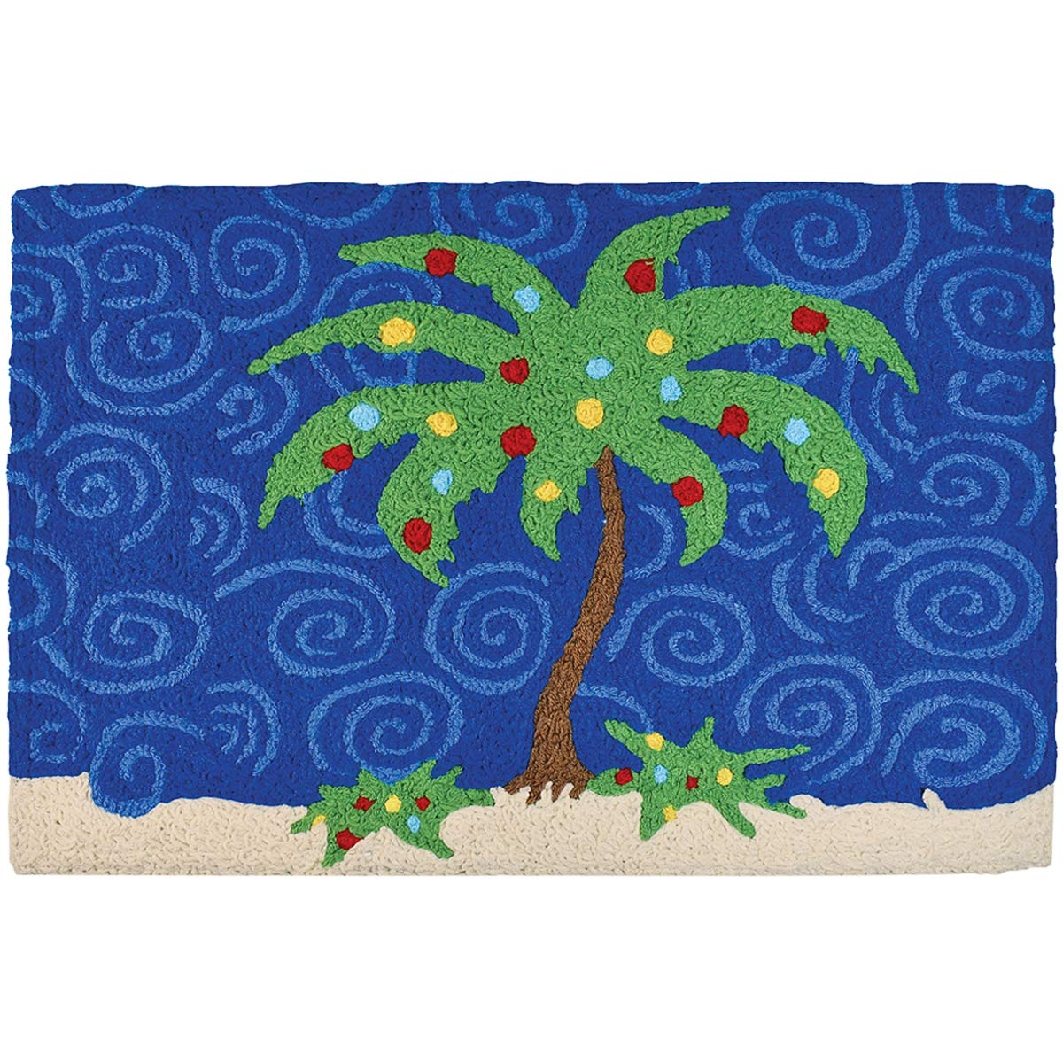 Don't miss the campaign Jellybean Holiday Palm Tree Polyester Indoor Rug for Max 41% OFF Outdoor Use
