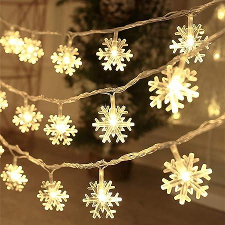 200 LED Christmas Lights White Fairy Light String Garden Party Xmas Decor Static