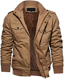 diandianshop Men's Coat Winter Military Clothing Pocket Tactical Outwear Thickened Cashmere Coat Top