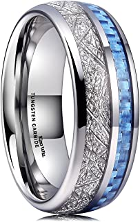 King Will 7mm 8mm Mens Tungsten Carbide Ring Engagement Band Polished Finish Comfort Fit