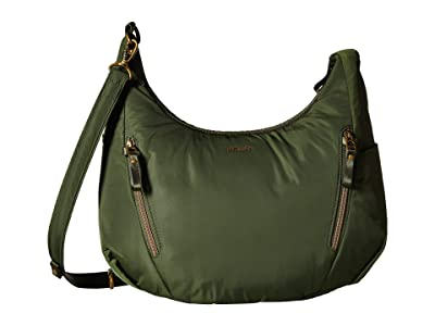 Pacsafe Stylesafe Anti-Theft Convertible Length Crossbody (Kombu Green) Cross Body Handbags