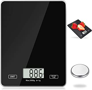 Meromore Digitale keukenweegschaal, 5 kg (1 g nauwkeurig), digitale weegschaal, elektronische weegschaal, huishoudweegscha...