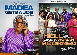 (The Play) Tyler Perry's Madea's Hell Hath No Fury Like A Woman Scorned & Madea Gets a Job The Play 2-DVD Comedy Drama Bundle