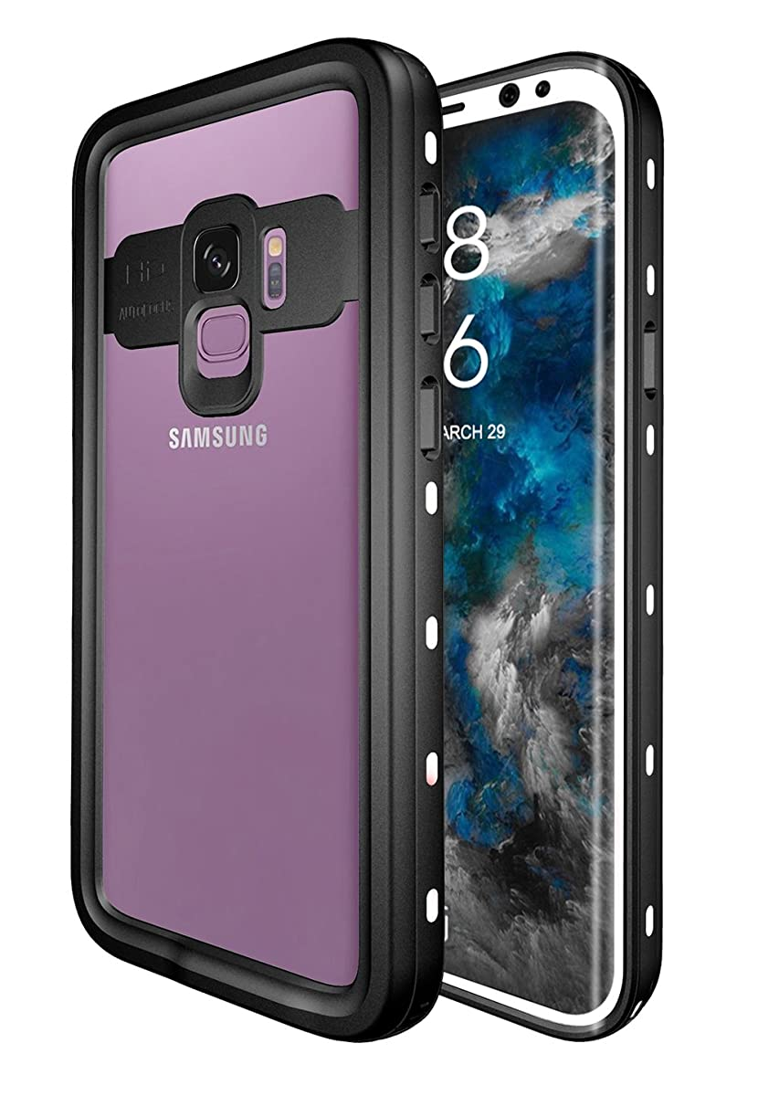 Waterproof Case for Samsung GALAXY S9, Shockproof Snowproof DirtProof Full Sealed Underwater Protective Cover, IP68 Certified White