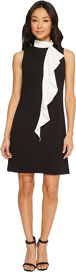 Adrianna Papell - Knit Crepe Corkscrew Shift Dress